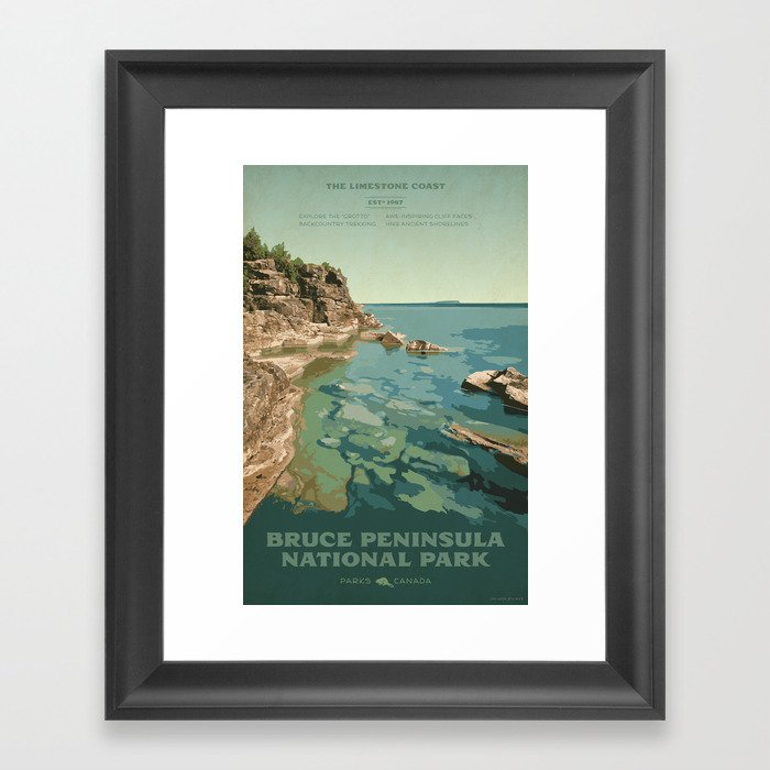 Bruce Peninsula National Park Gerahmter Kunstdruck