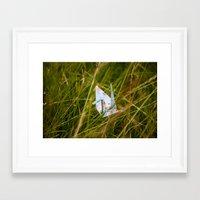 crane Framed Art Prints featuring Crane by richporter