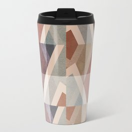 Textured Geometric Abstract Travel Mug