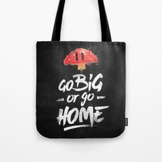 Go Big or Go Home Mario Inspired Smash Art Tote Bag