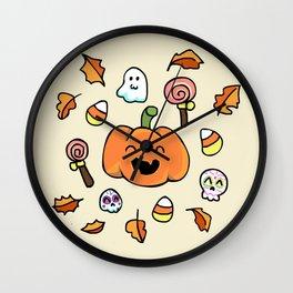 Halloween Doodles Wall Clock