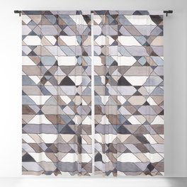 Triangle Pattern no.22 grays Blackout Curtain