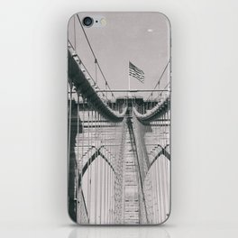 Brooklyn bridge, architecture, vintage photography, new york city, NYC, Manhattan view iPhone Skin