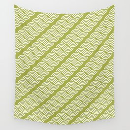 shortwave waves geometric pattern Wall Tapestry