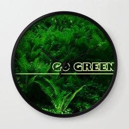 Go Green Wall Clock