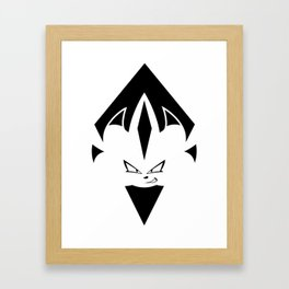 Chaos Nazo Emblem (Black and White) Framed Art Print