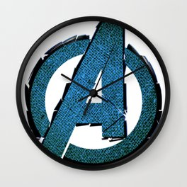 UNREAL PARTY 2012 AVENGERS LOGO FLYERS Wall Clock