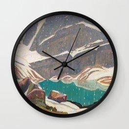 Mountain Solitude, Lake Oesa by James Edward Hervey MacDonald - Canada, Canadian Oil Painting - Grou Wall Clock