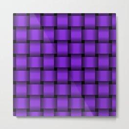 Large Violet Weave Metal Print