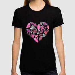 Pink Love of Moths and Butterflies T-shirt