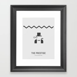 Flat Christopher Nolan movie poster: The Prestige Framed Art Print