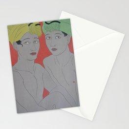 1940 Paul Jacoulet Japanese Woodblock Print Les Enfants aux Yeux Jaunes Ohlol Stationery Cards