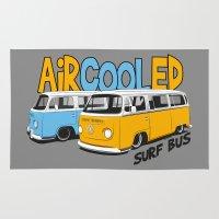 vw bus Area & Throw Rugs featuring VW Camper Van Surf Bus by VelocityGallery