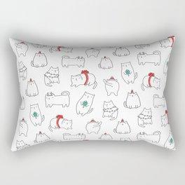 Fat Christmas cats Rectangular Pillow