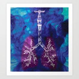 Liquid lungs Art Print