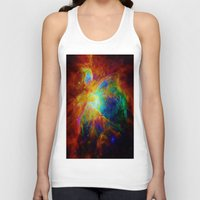 nebula Tank Tops featuring Orion NEBula  : Colorful Galaxy by 2sweet4words Designs