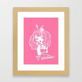 Miss Macaron Framed Art Print