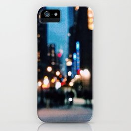 hazy cityscape iPhone Case