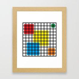 Modern geometric background, red, yellow, green,orange and blue  #society6 #decor #buyart #artprint Framed Art Print