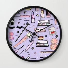 Purple Make Up Magic Wall Clock