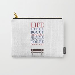 Lab No. 4 - Forrest Gump Movies Inspirational Quotes Poster Carry-All Pouch