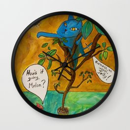Melon and Jelly cats intro panel Wall Clock