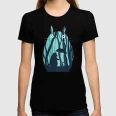 My Neighbor Totoro Womens Fitted Tee LARGE Black