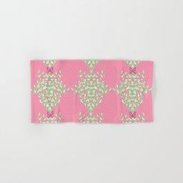 Pink Butterfly Vine Baroque Hand & Bath Towel