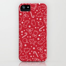 Sugar, Holly, and Everything Jolly iPhone Case