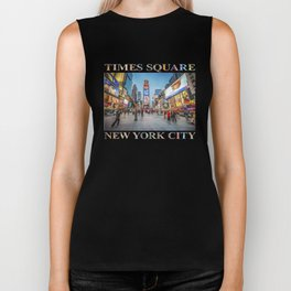 Times Square Sparkle (with typography) Biker Tank