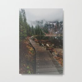 Foggy Lake 22, Washington Metal Print