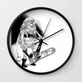 Père Noël effrayant / Creepy Santa Wall Clock