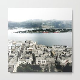 Alesund from the top of the hill Metal Print