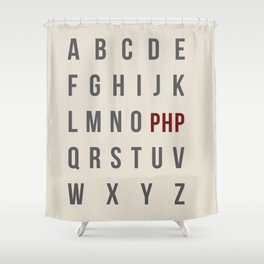 L-M-N-O-PHP Shower Curtain