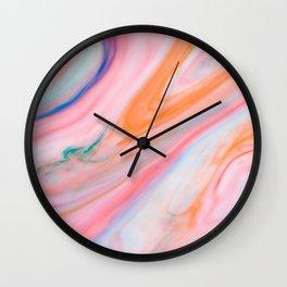 Rainbow Marble Agate Wall Clock