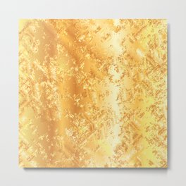 Golden Abstract Background Metal Print