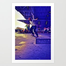 Colorful Skater Art Print