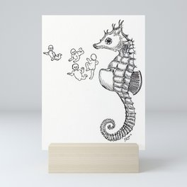 Sea horse Mini Art Print