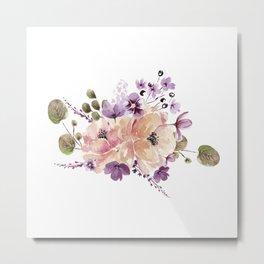Watercolor Bouquet Metal Print