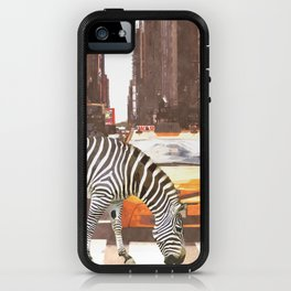 Zebra in New York City iPhone Case