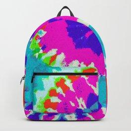 Batik Flower Power Spiral grunge Backpack