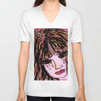 doll V-neck T-shirts featuring doll by sladja
