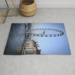 The London Eye in London I | Color Photography | Travel Photography | Photo Print | Art Print Rug