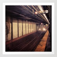 The L Train Is Rolling In Art Print