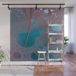 Ode for secret of teal and maroon Wall Mural