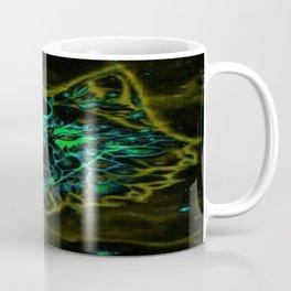 Mythical Neon Yellow Wolf Coffee Mug