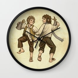 Merry and Pippin Wall Clock