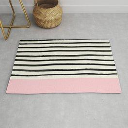 Millennial Pink x Stripes Rug