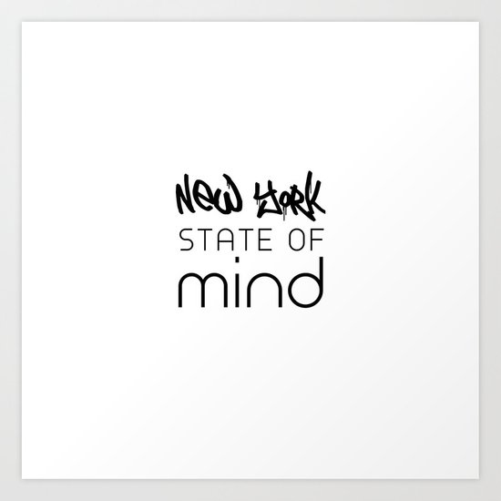 NY State of Mind Art Print
