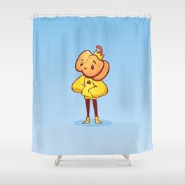 Pumpkin Guy Shower Curtain